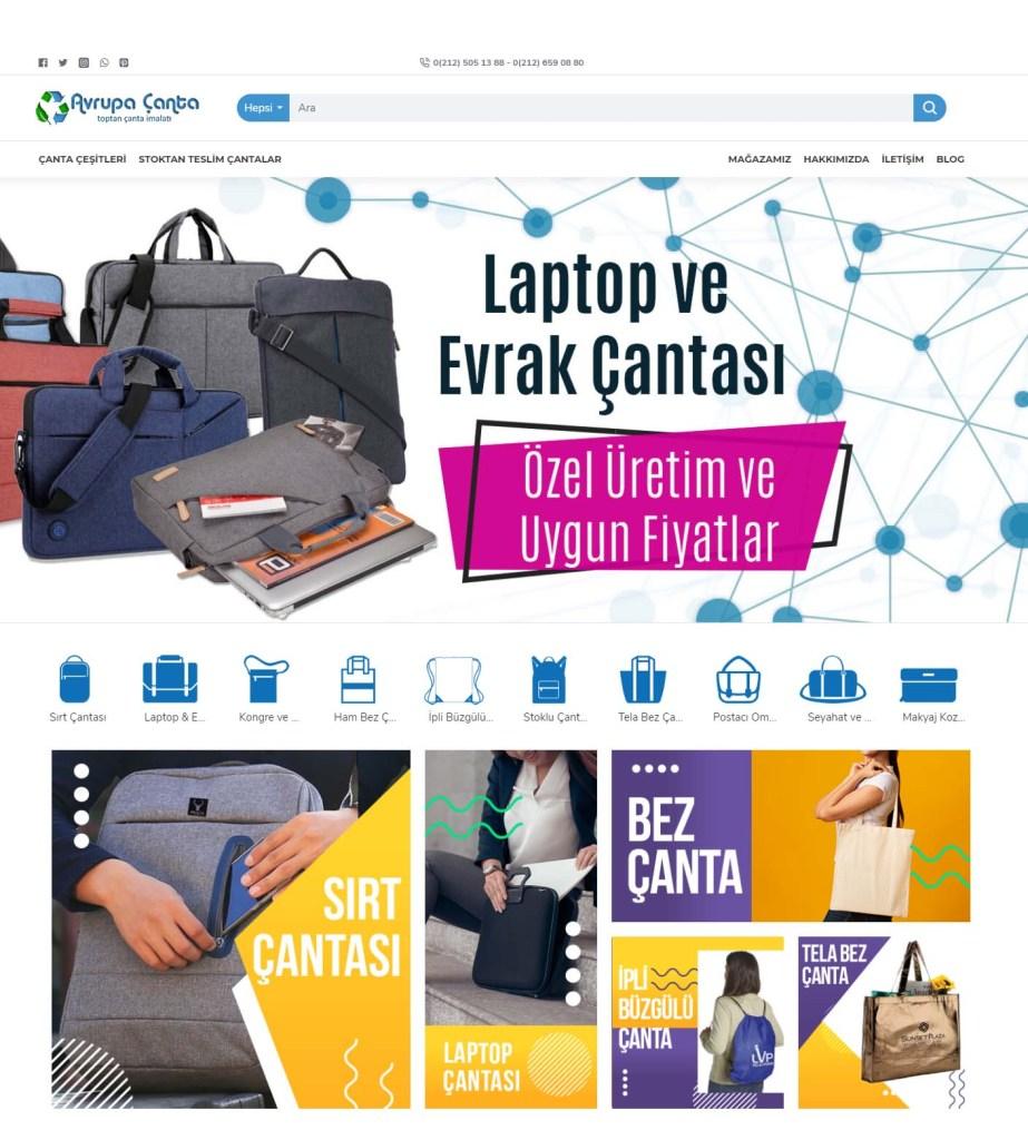 e-ticaret site tasarimi avrupacanta.com