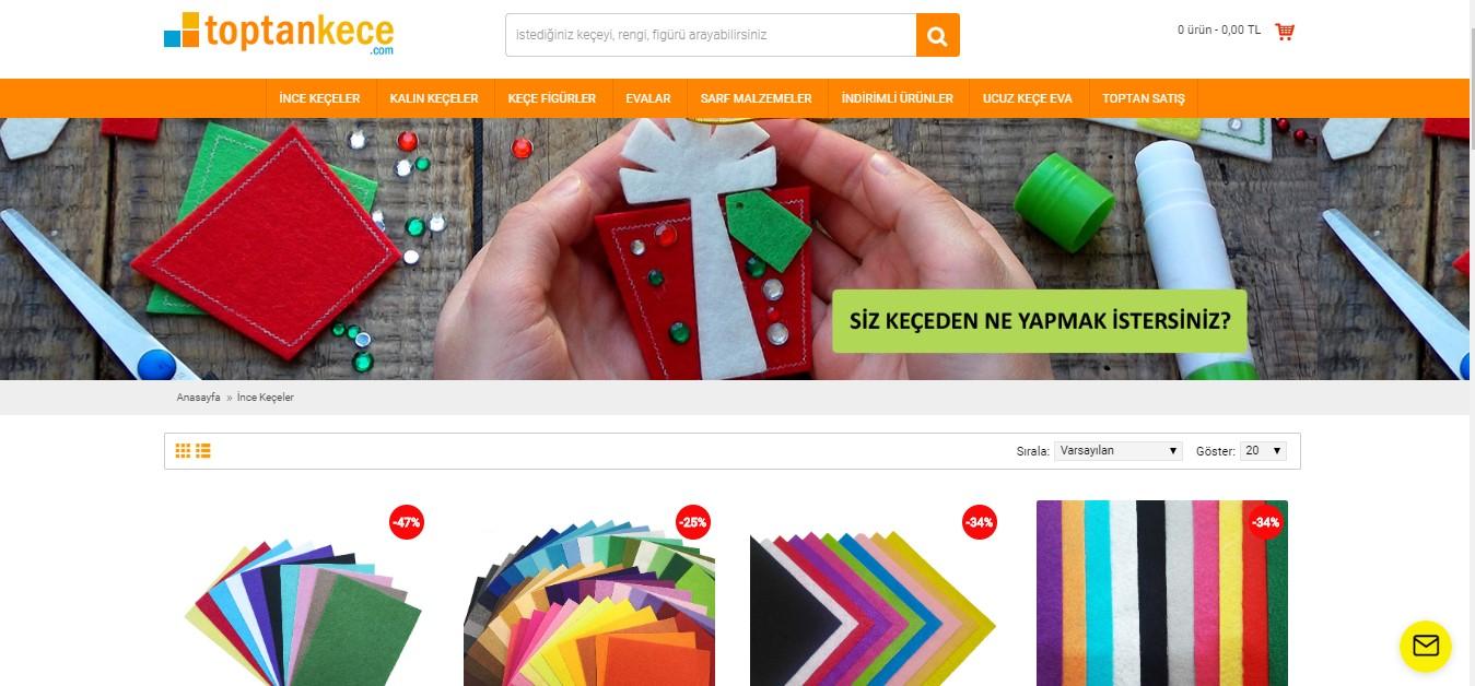e-ticaret site tasarimi toptankece.com
